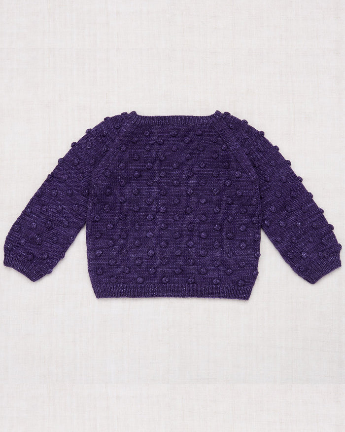 Little misha + puff girl popcorn sweater in violet