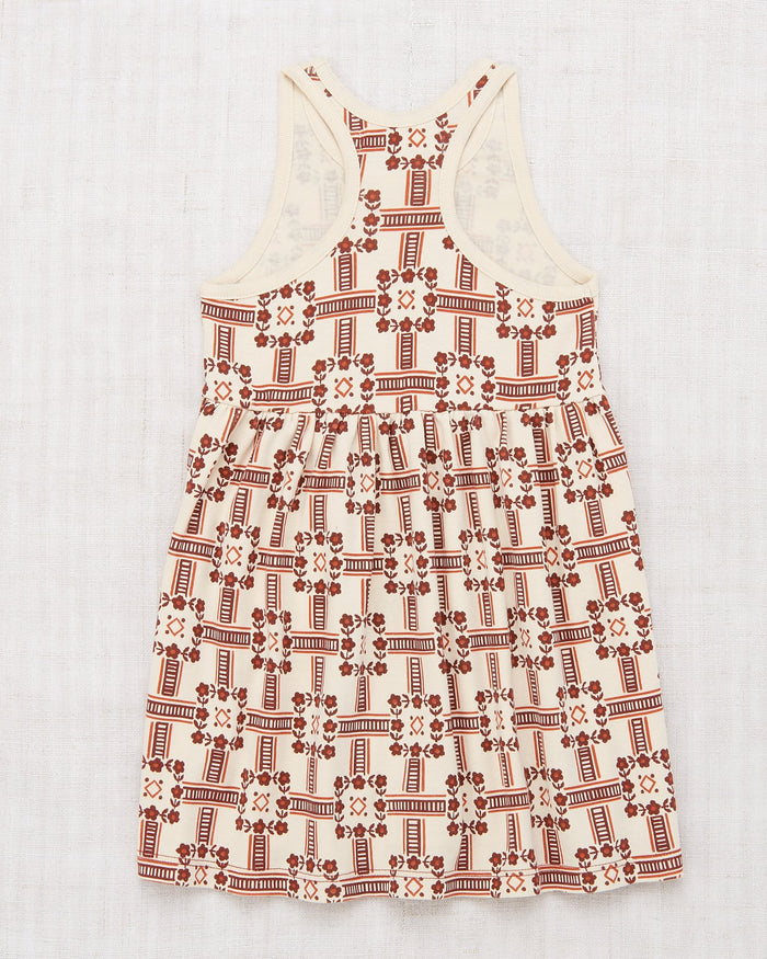 Little misha + puff girl racer back dress in railroad floral