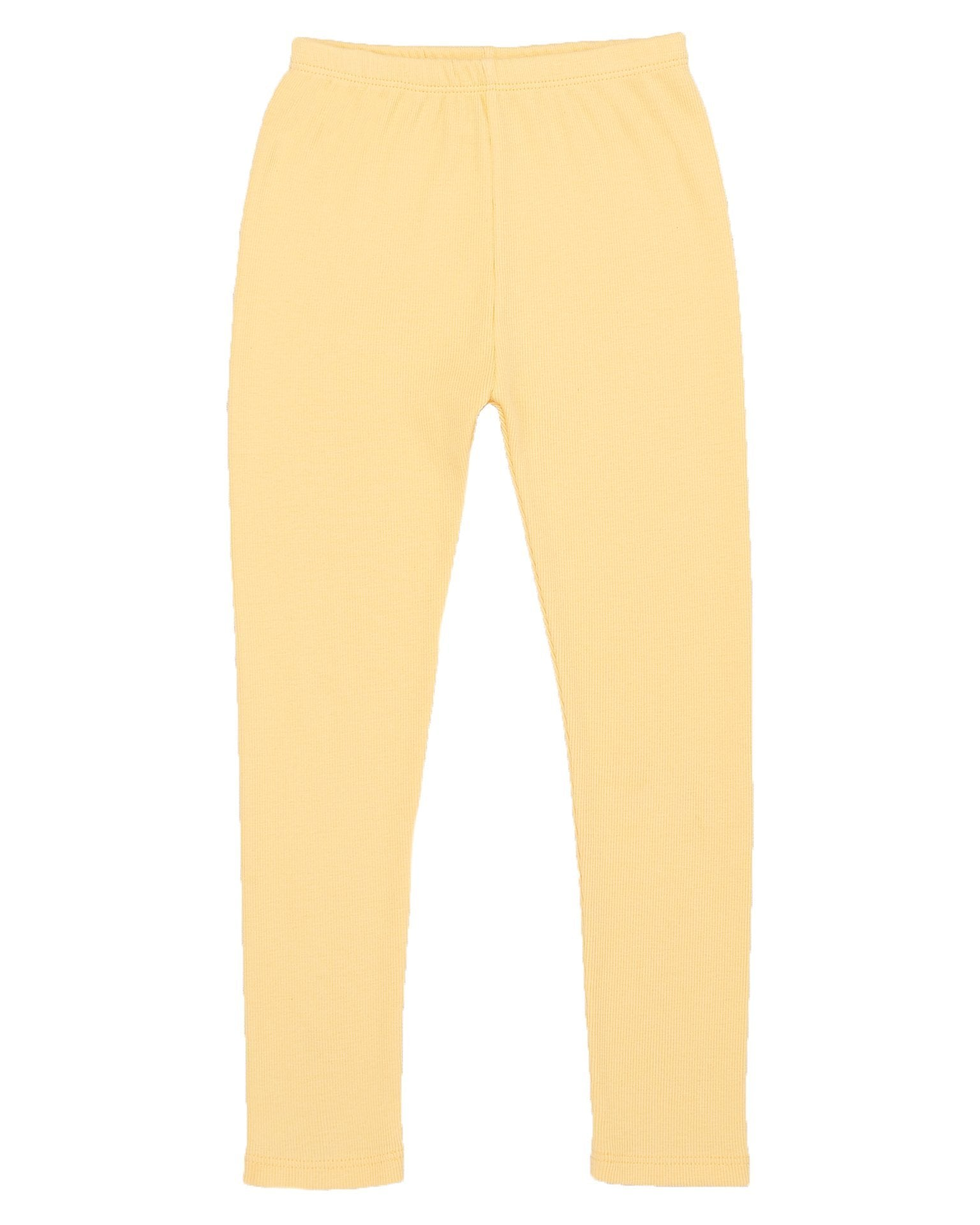 Little misha + puff baby girl ribbed legging in butter