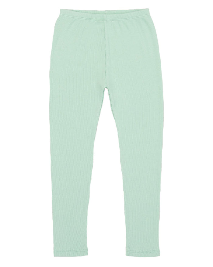 Little misha + puff baby girl ribbed legging in seafoam