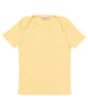 Little misha + puff baby girl ribbed slim tee in butter