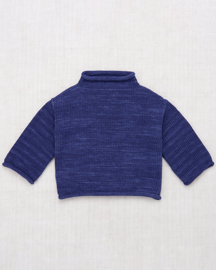 Little misha + puff girl rollneck pullover in blue violet