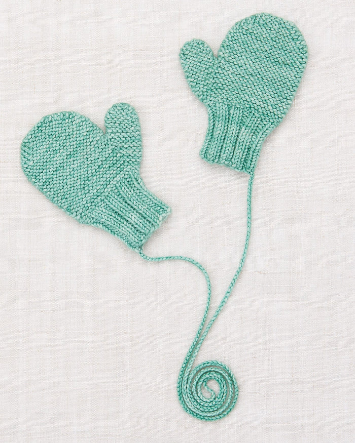 Little misha + puff baby accessories safe harbor mittens in celadon