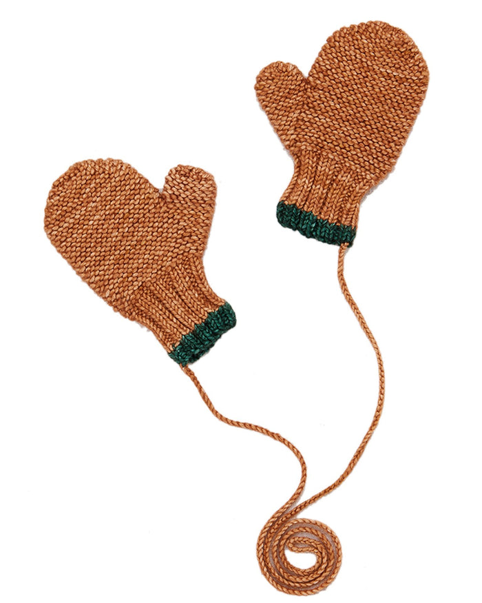 Little misha + puff accessories safe harbor mittens in rose gold