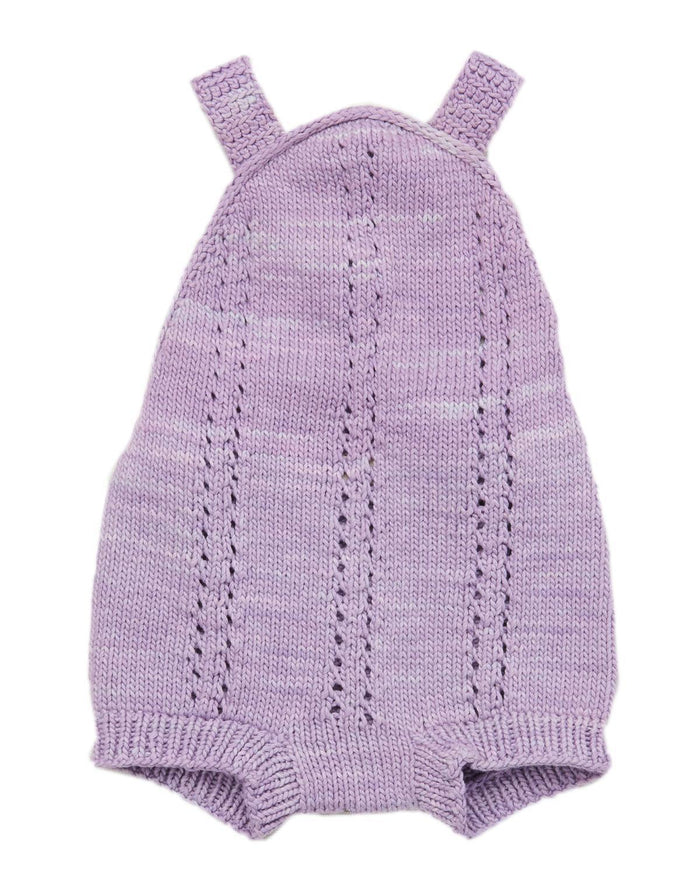 Little misha + puff baby girl 0-6 sea urchin sunsuit in lavender