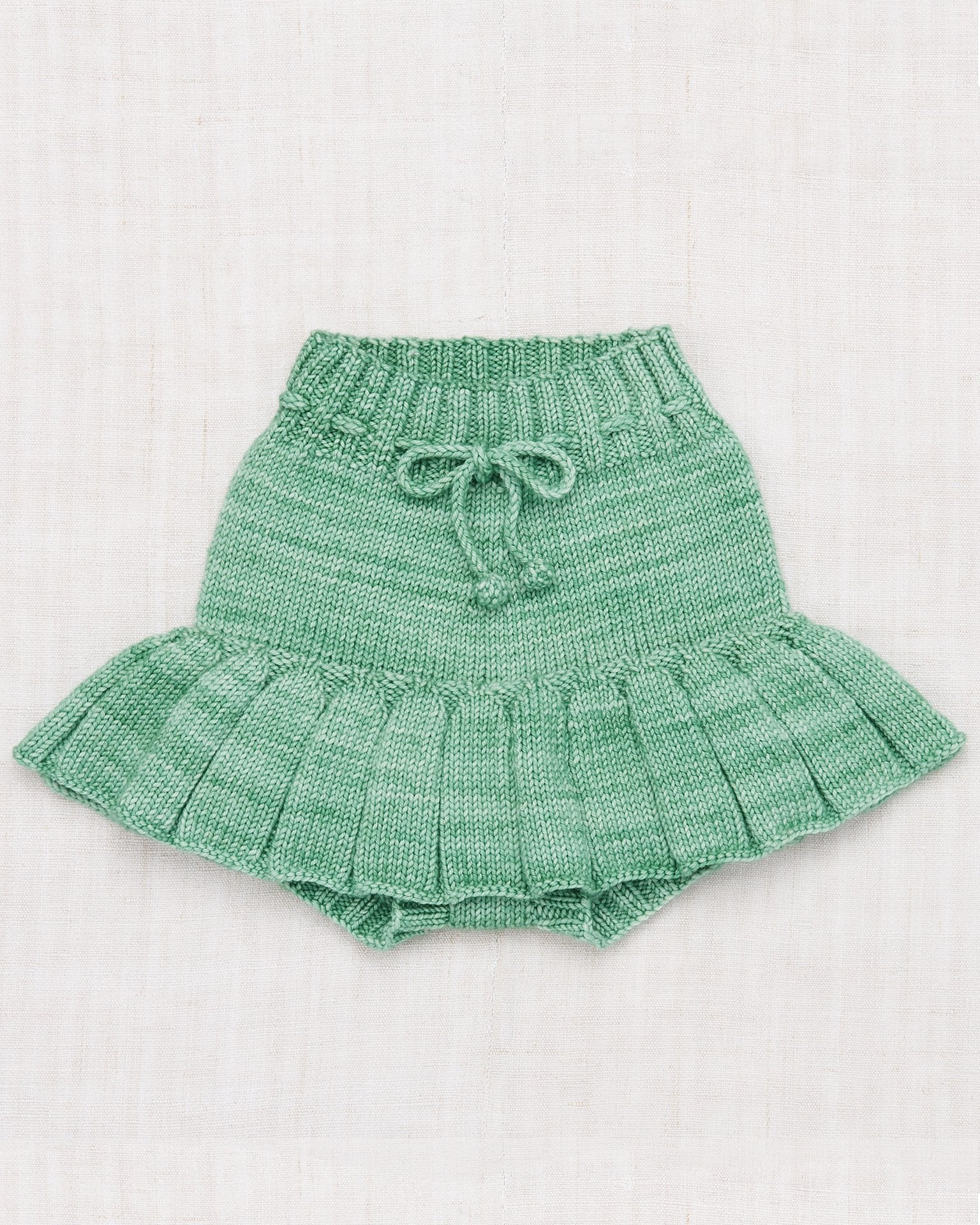 Little misha + puff baby girl skating pond skirt in celadon
