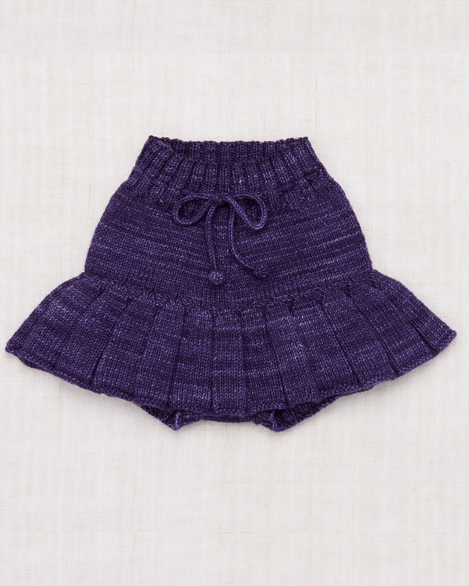 Little misha + puff baby girl skating pond skirt in violet