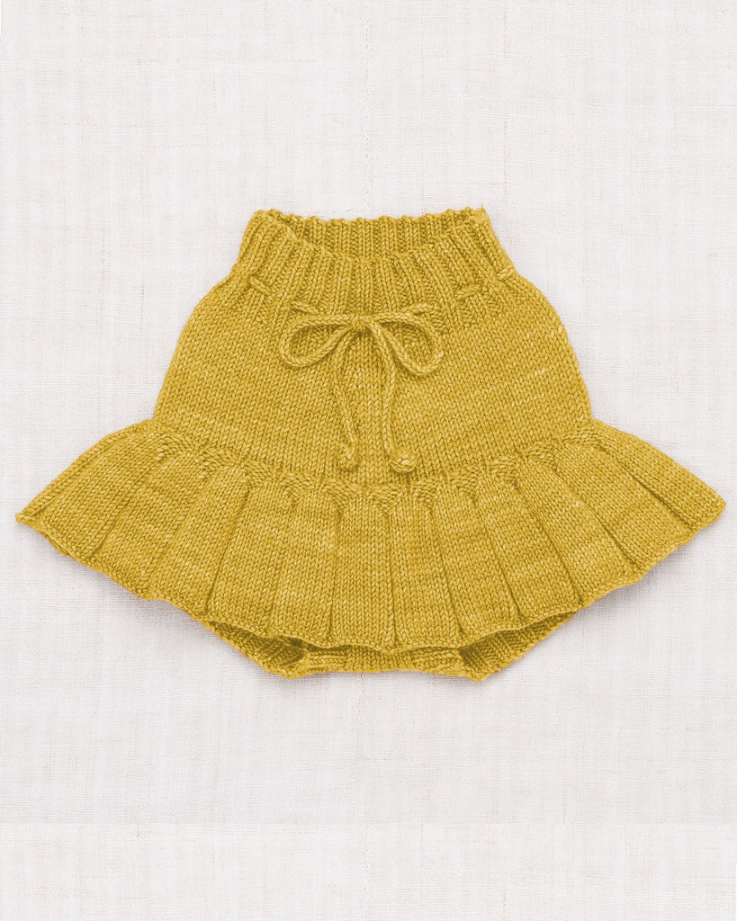 Little misha + puff baby girl skating pond skirt in winter wheat