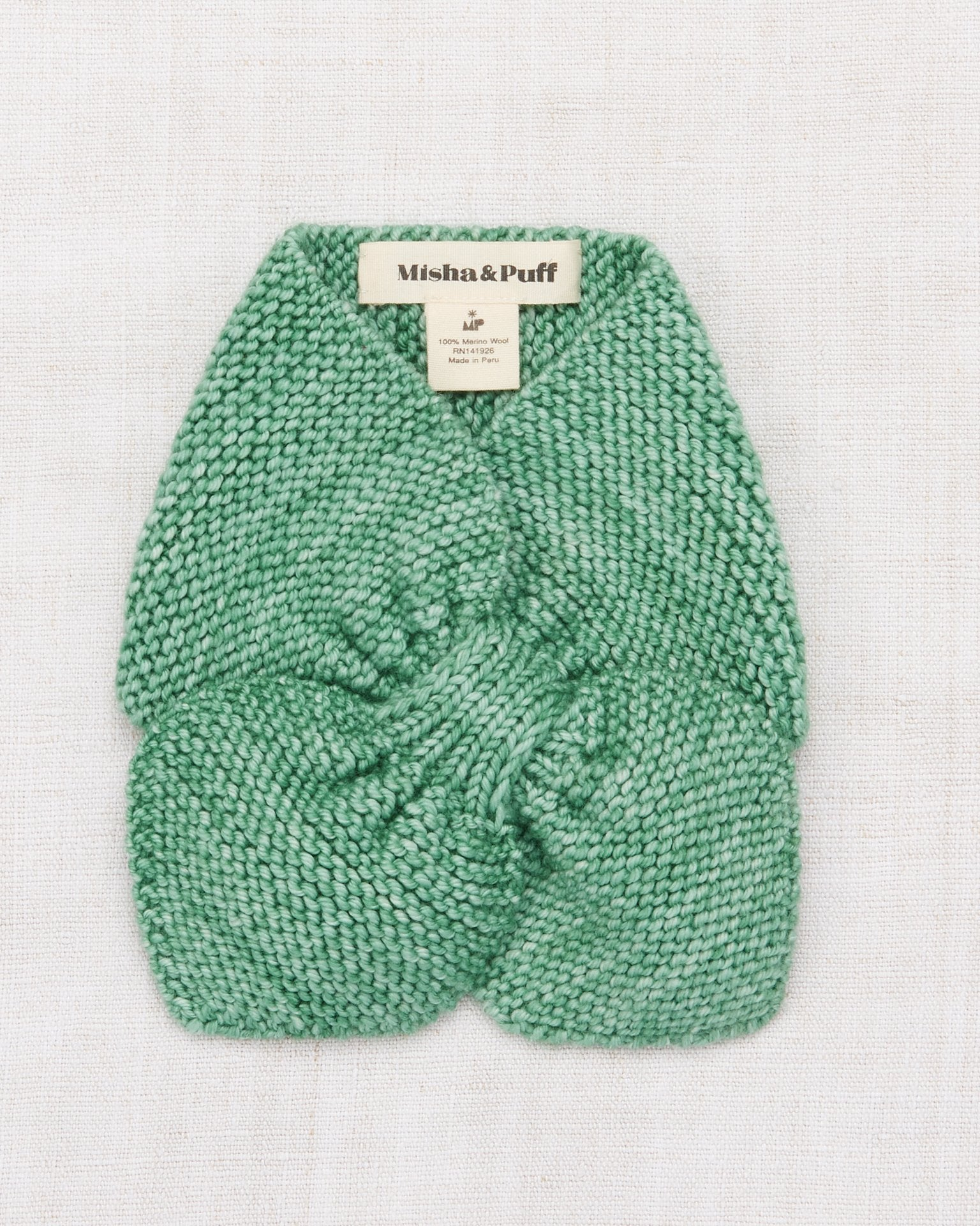 Little misha + puff accessories one size sledding scarf in celadon