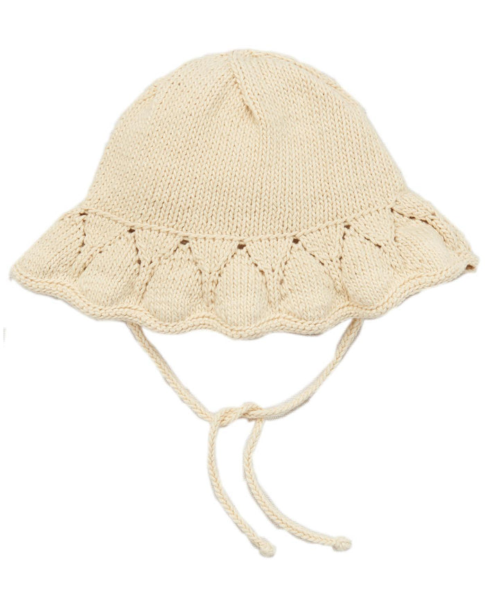 Little misha + puff baby accessories 0-6 starling sunhat in string