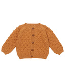Little misha + puff girl summer popcorn cardigan in caramel