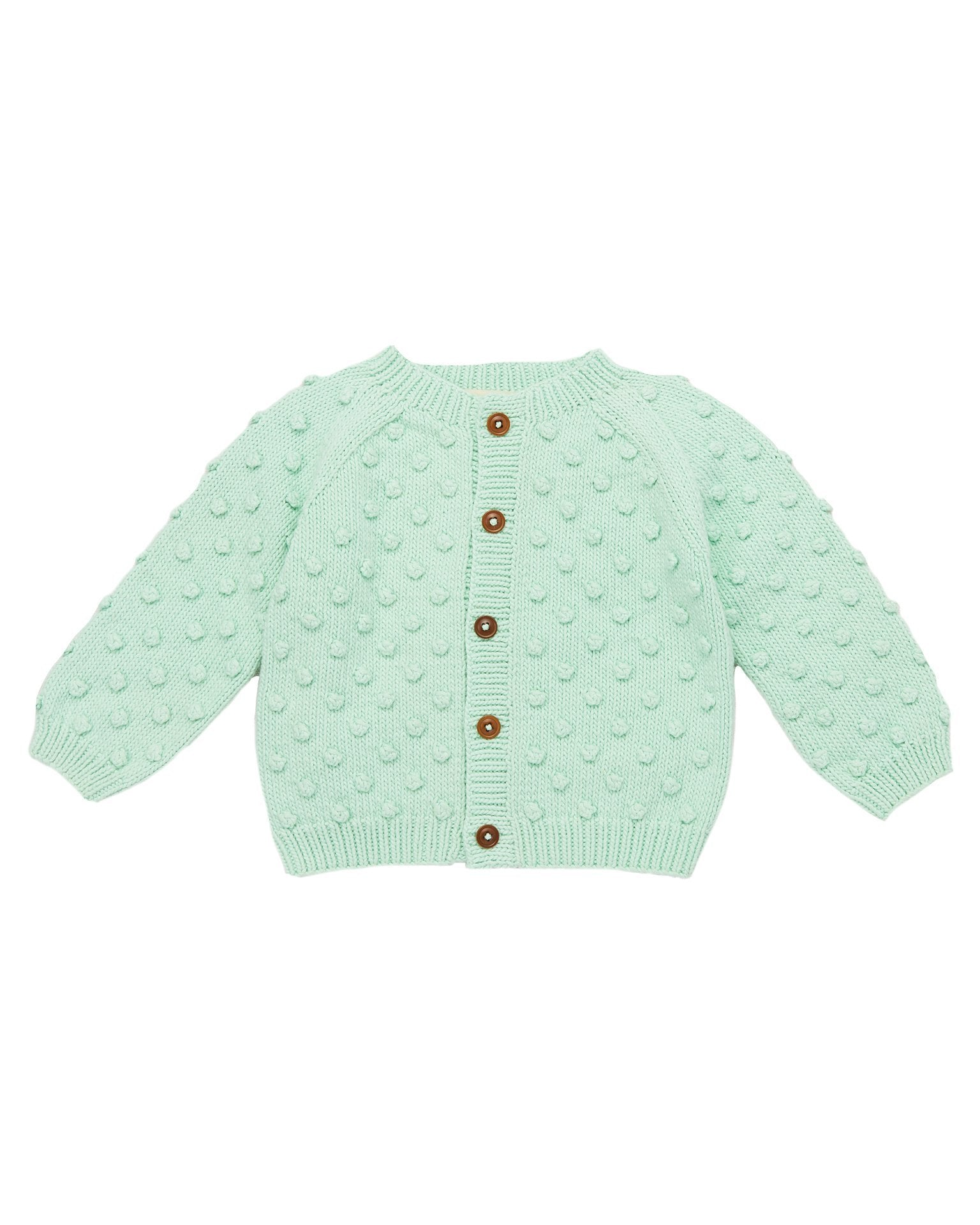 Little misha + puff girl summer popcorn cardigan in mint
