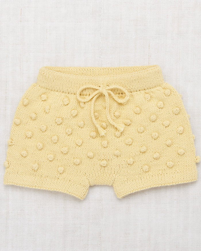 Little misha + puff girl summer popcorn shorts in straw