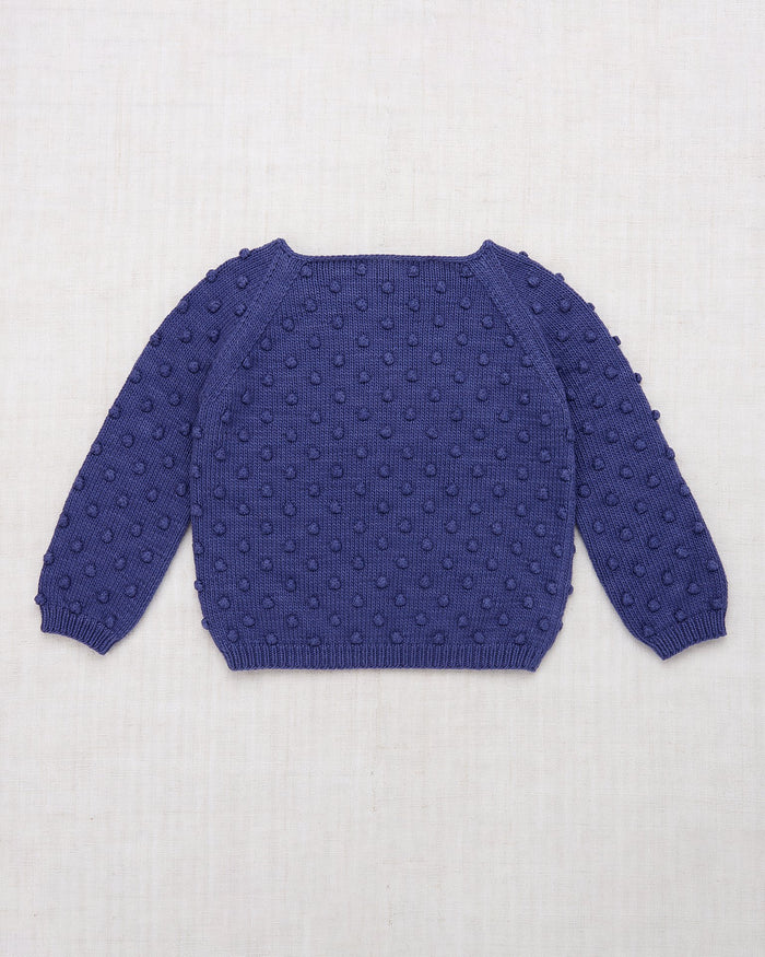 Little misha + puff girl summer popcorn sweater in blue violet