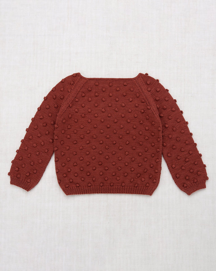 Little misha + puff girl summer popcorn sweater in cocoa bean