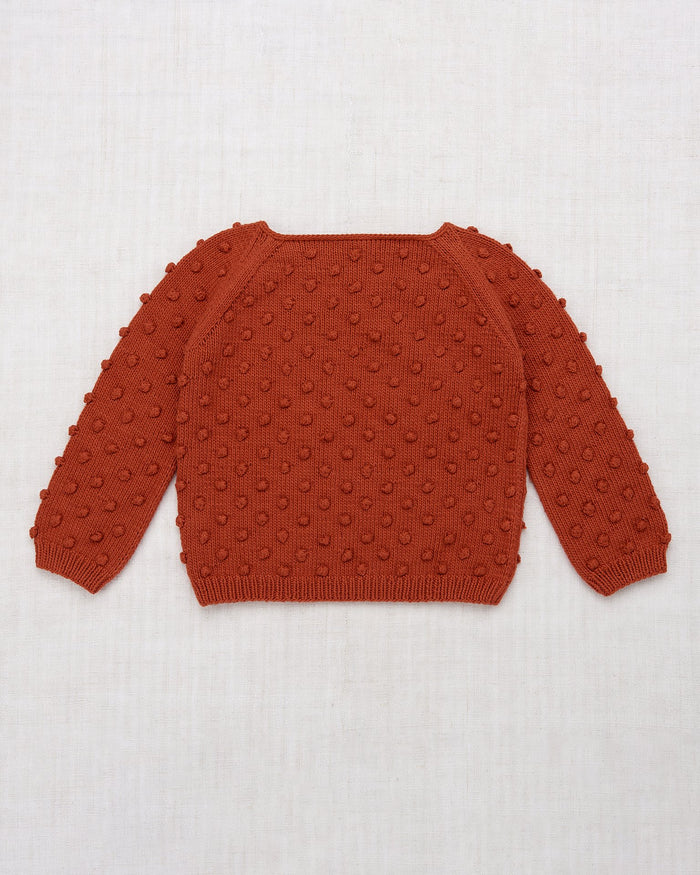 Little misha + puff girl summer popcorn sweater in paprika