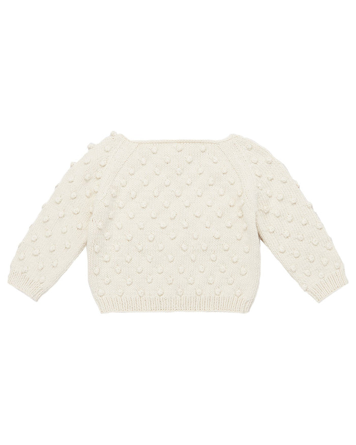 Little misha + puff girl summer popcorn sweater in vanilla