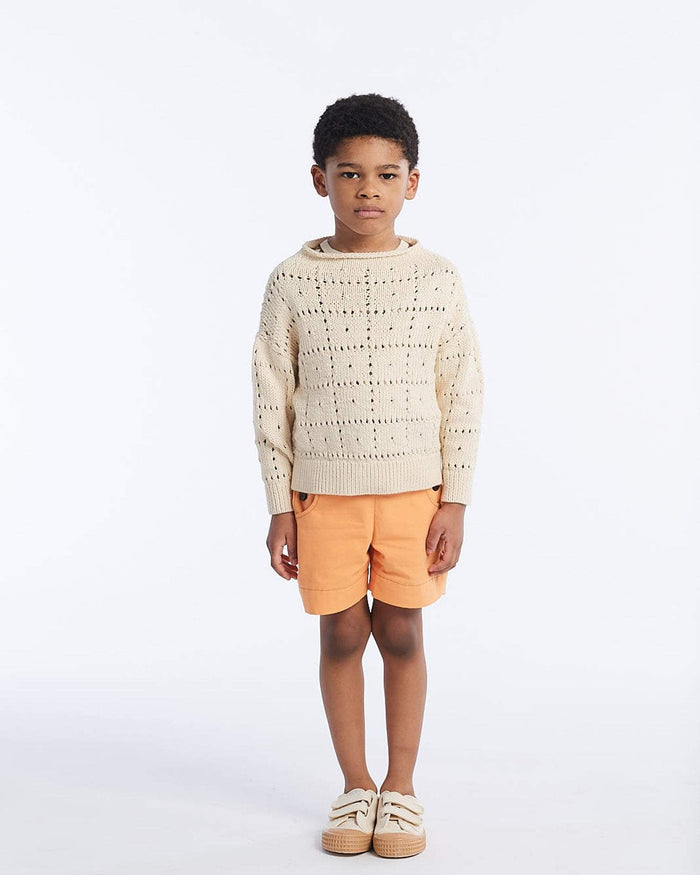 Little misha + puff girl 2-3 windowpane pullover in string