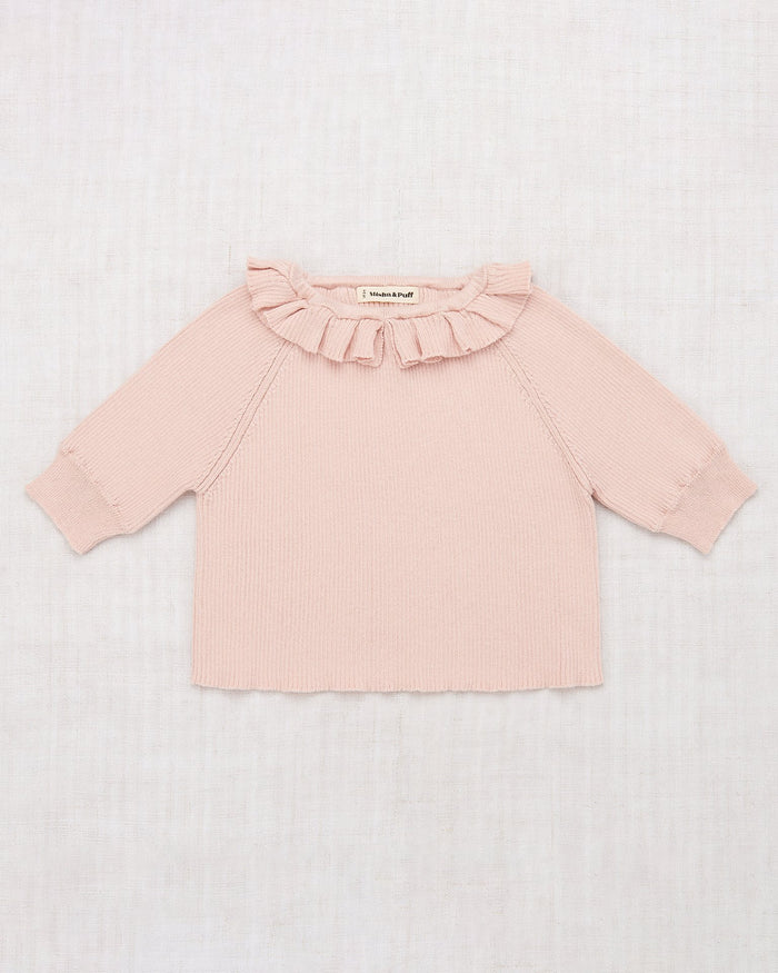 Little misha + puff girl yves top in pink taupe
