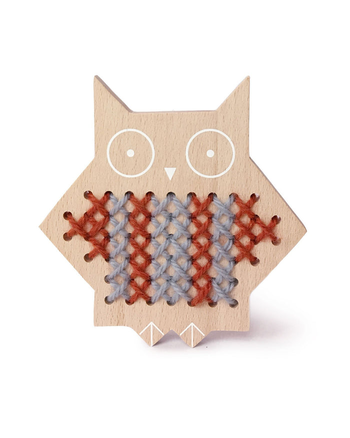 Little moon picnic play cross stitch friends - owl