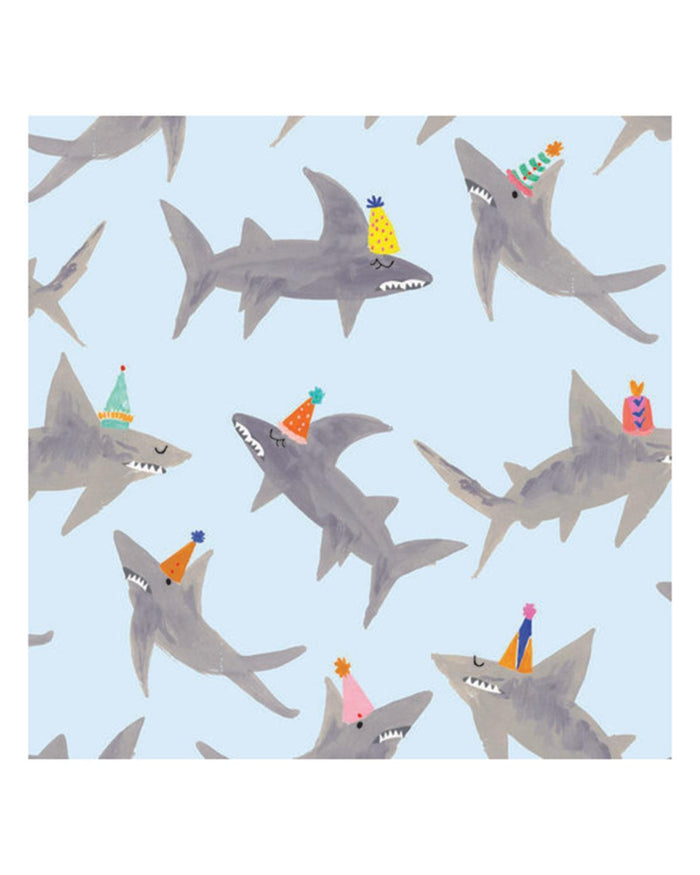 Little mr. boddington's studio paper+party a school of sharks gift wrap