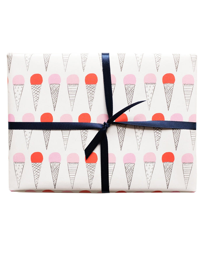 Little mr. boddington's studio paper+party afternoon at the gelateria gift wrap