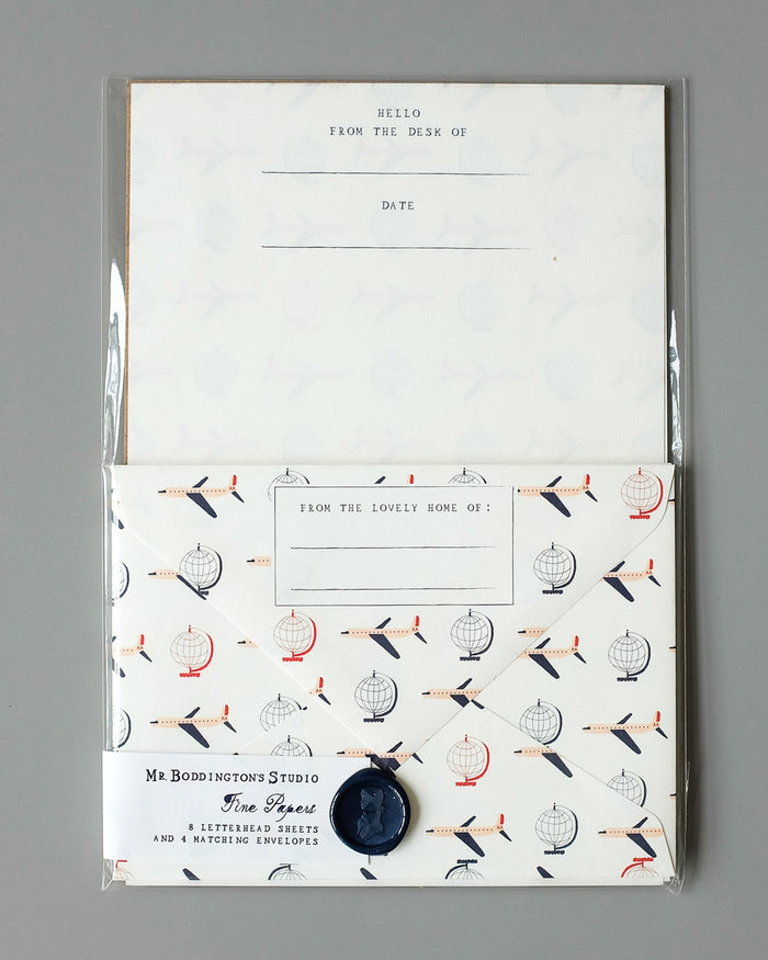 Little mr. boddington's studio paper+party airplanes letterhead set