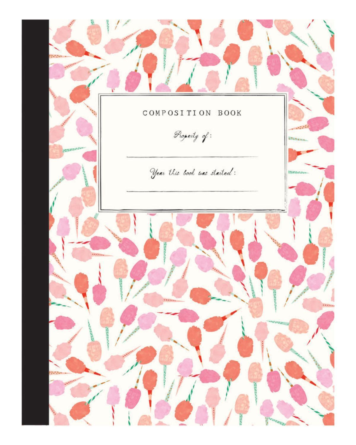 Little mr. boddington's studio paper+party cotton candy comp notebook