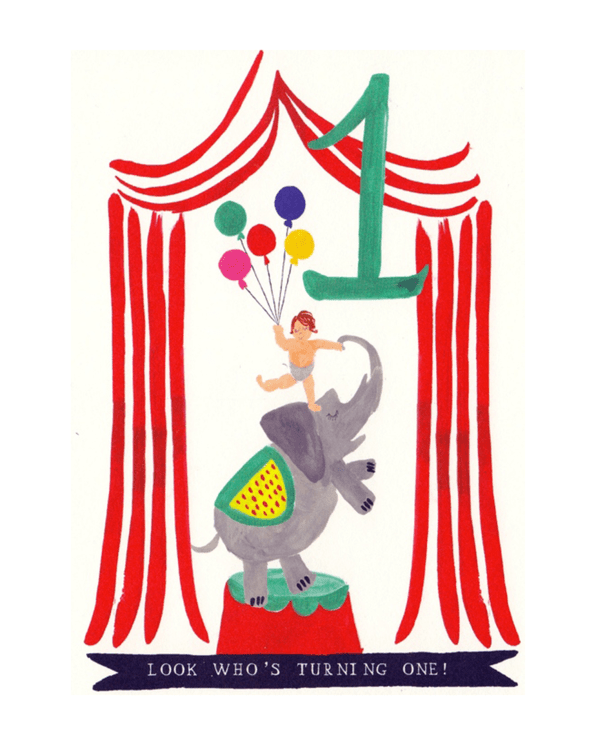 Little mr. boddington's studio paper+party Ellie Elephant Birthday Card