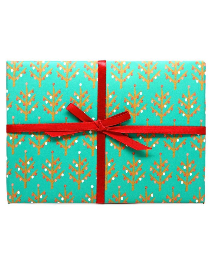 Little mr. boddington's studio paper+party evergreen + gold wrap