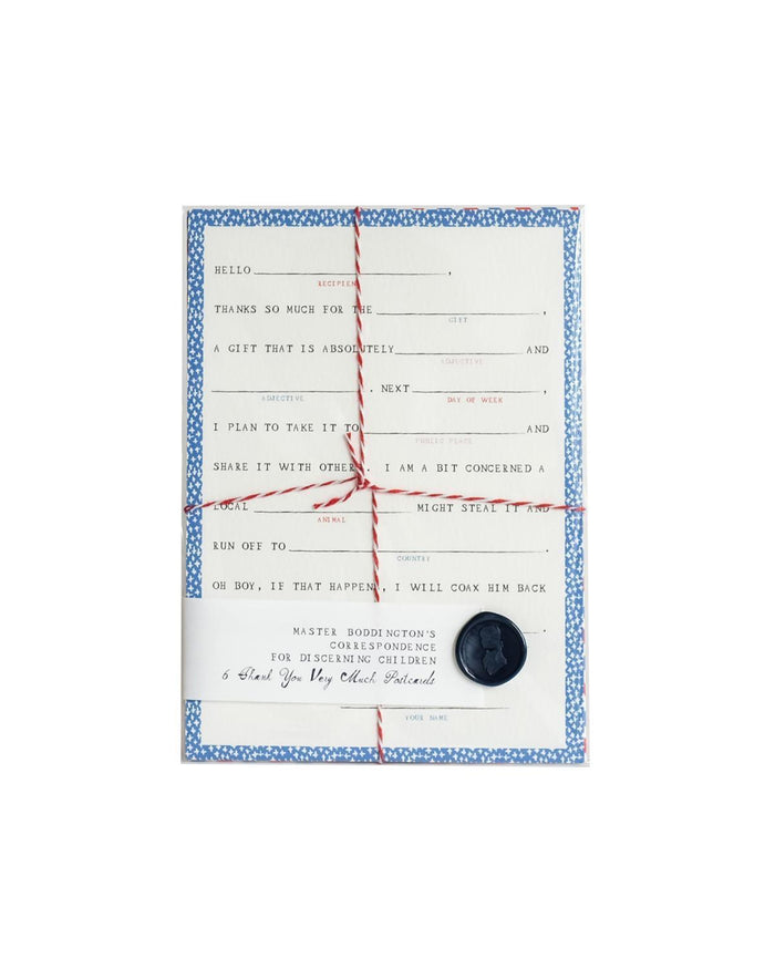 Little mr. boddington's studio paper+party Fill-in-the-Blank Postcards
