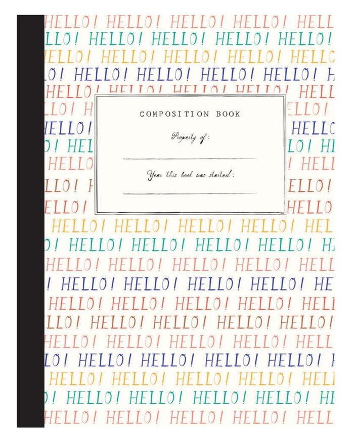 Little mr. boddington's studio paper+party hello goodbye comp notebook