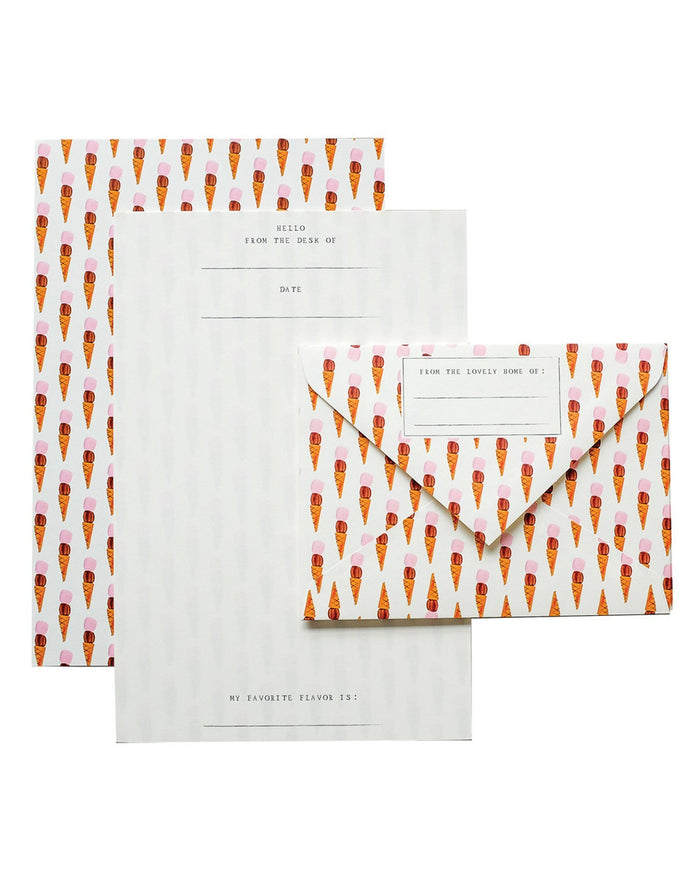 Little mr. boddington's studio paper+party ice cream letterhead set