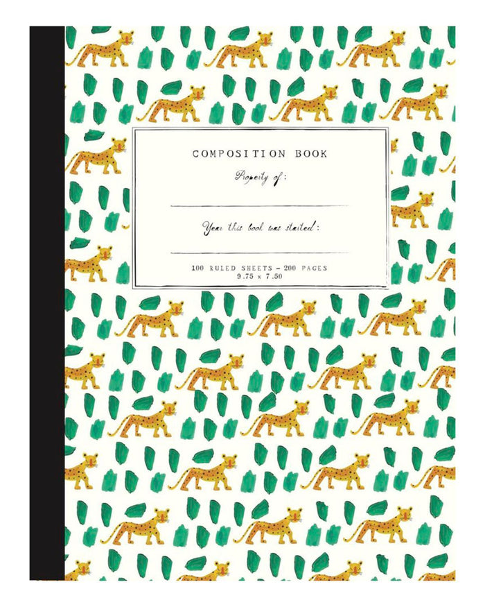 Little mr. boddington's studio paper+party Leopards Composition Notebook