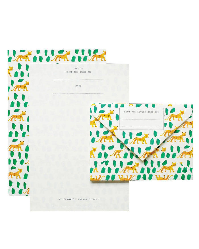 Little mr. boddington's studio paper+party leopards letterhead set