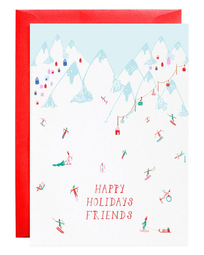 Little mr. boddington's studio paper+party meet me at the lodge holiday card