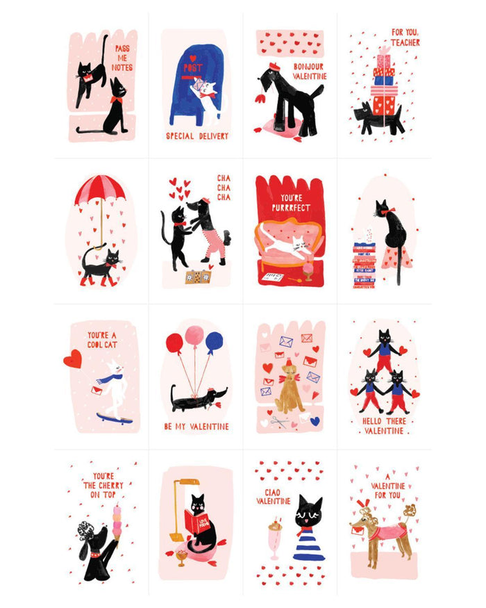 Little mr. boddington's studio paper+party meow + woof valentine set