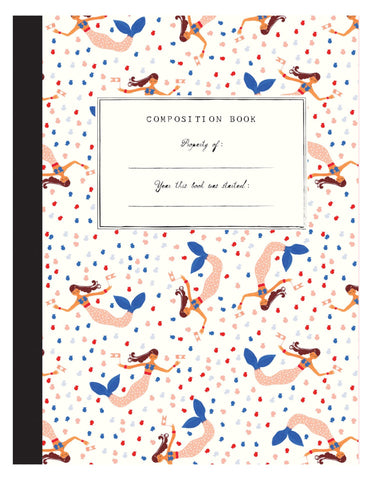Little mr. boddington's studio paper+party mermaids on parade composition book