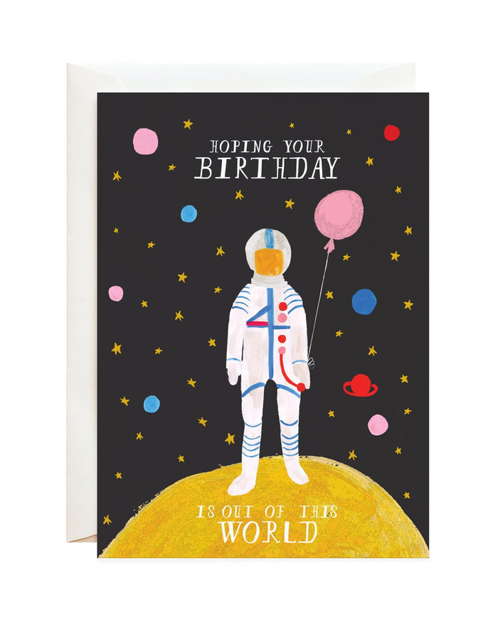 Little mr. boddington's studio paper+party out of this world card