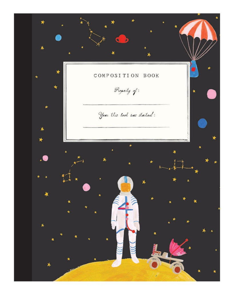 Little mr. boddington's studio paper+party outer space composition book