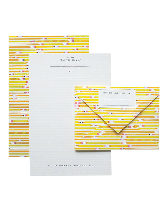 Little mr. boddington's studio paper+party pencils letterhead set