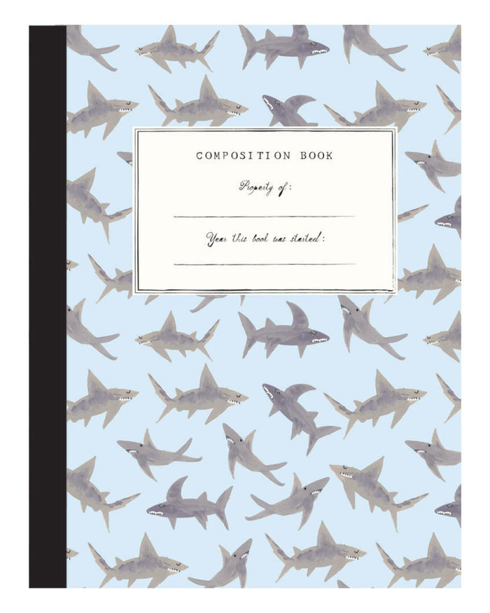 Little mr. boddington's studio paper+party sharks composition notebook