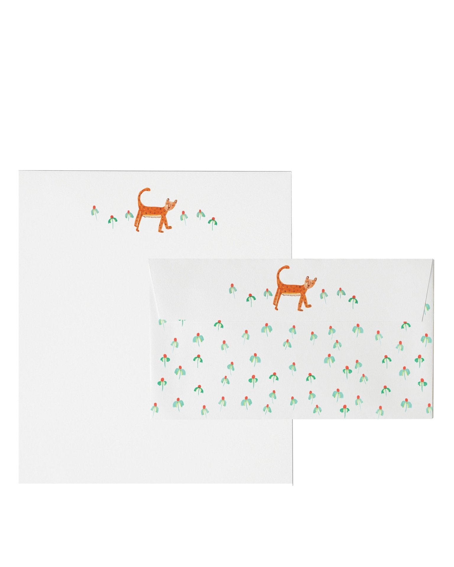 Little mr. boddington's studio paper+party spotted cheetah letterhead set