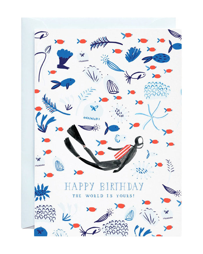 Little mr. boddington's studio paper+party the world is yours card