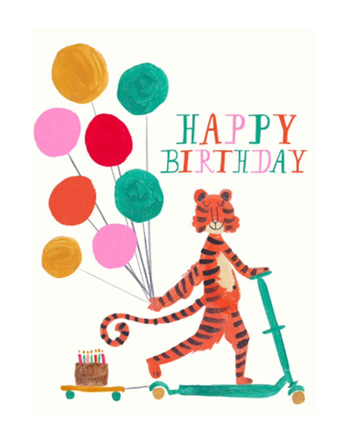 Little mr. boddington's studio paper+party Tiger Scooter Card