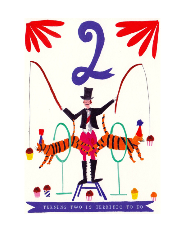 Little mr. boddington's studio paper+party Tiger Twins Birthday Card