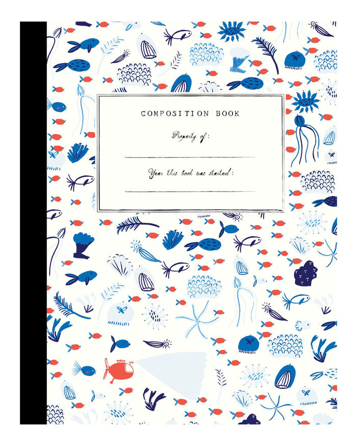 Little mr. boddington's studio paper+party underwater garden composition book