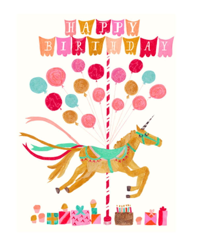 Little mr. boddington's studio paper+party Unicorn Birthday Card