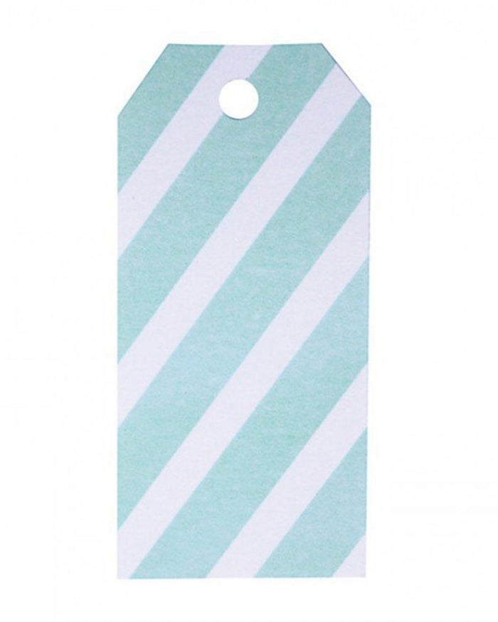 Little my little day paper+party Gift Tags in Aqua Stripes