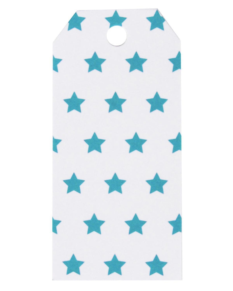 Little my little day paper+party Gift Tags in Blue Stars